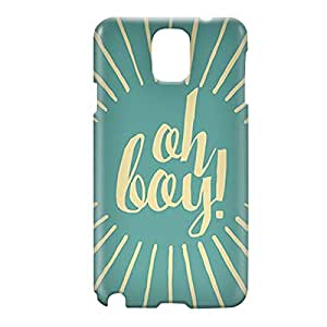 Loud Universe Samsung Galaxy Note 3 3D Wrap Around Oh Boy Print Cover - Blue