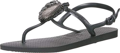 Havaianas Women's Freedom Metal Pin Sandal Black 39-40 M Bra