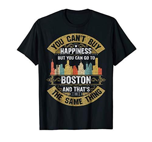 Vintage Boston City Flag Tshirt I Love Boston Shirt