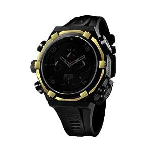 Offshore Limited Force 4 Shadow 001 SH M - Reloj cronógrafo de cuarzo para hombre, correa de silicona color negro (cronómetro)