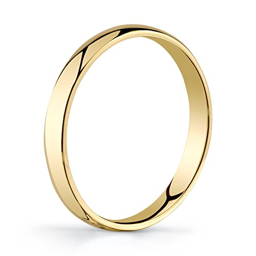 10k Yellow Gold Light Comfort Fit 3mm Wedding Band Size 9.5 by Tesori & Co (Image #1)