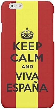 Funda Carcasa Keep Calm Viva España para iPhone 6 Plus 6PLUS plástico rígido: Amazon.es: Electrónica