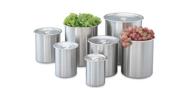 12-Quart Stainless Steel Bain Marie Pot w//о Lid NSF Winco BAMN-12