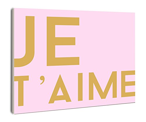 The Stupell Home Decor Collection lulusimonSTUDIO JE T'AIME Rectangle Wall Plaque