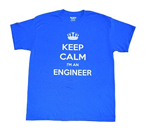 Suck Up Gifts Keep Calm I'm an Engineer Unisex Short Sleeve T-Shirt (2X-Large) (T-shirt Engineer Sleeve Short)