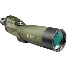 BARSKA Blackhawk 20-60x70 Waterproof Straight Spotting Scope w/ Tripod, Soft Carry Case & Premium Hard Case