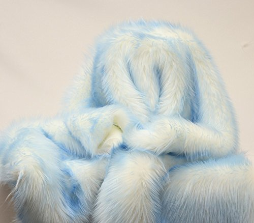 Faux Fur Long Pile CANDY SHAGGY Fabric White Backing 60