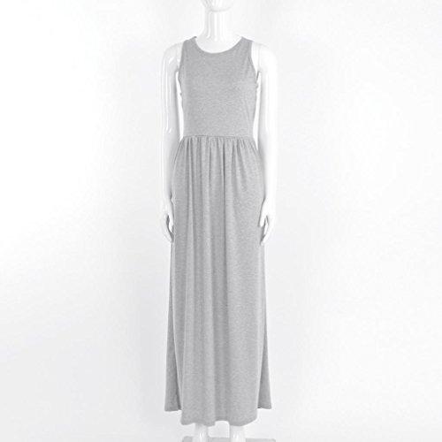 Kleid grau mit taschen