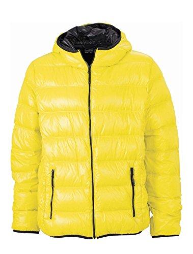 Cappuccio Stile Yellow Con carbon Casual Men's Sottogiacca Jacket Down Uomo Ultraleggera zqIExxwPt