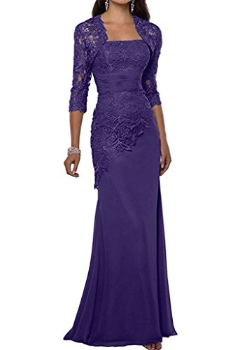 VaniaDress Women Long Mother Of The Bride Dress With Jacket Formal Gowns V263LF Purple US14 from VaniaDress