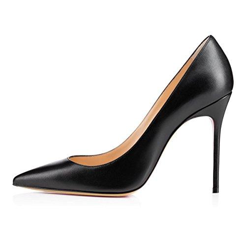 Chaussures Fête Aiguille Sexy Blackmatte Escarpins Femme Talon EDEFS Stiletto Sexy Soir pwHzxAq