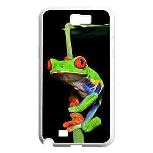 Diy Beautiful Frog Custom Cover Phone Case for samsung galaxy note 2 White Shell Phone [Pattern-5]
