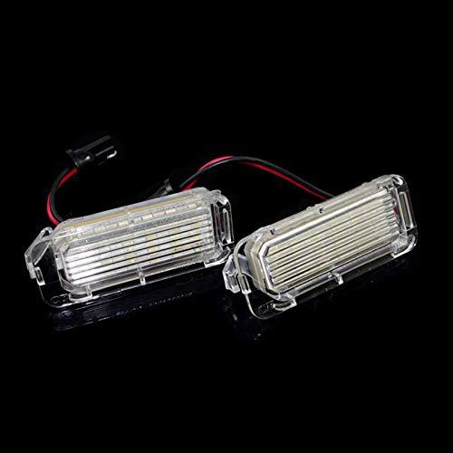 gfhjgjhj 2Pcs LED Xenon White Number License Plate Light Lamp for Ford Fiesta Focus Mondeo