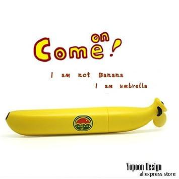 Carga casebomb flashsellerz mtong fruta plátano artículos 3 paraguas plegable paraguas portaminas hembra el Sol paraguas