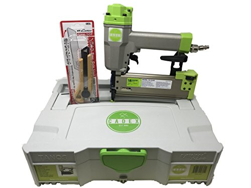 CADEX V2/18.50 1/2″ – 2″ 18 GAUGE BRAD NAILER WITH SYSTAINER CASE & FREE NT CUTTER SAW-50P RETRACTABLE SAW