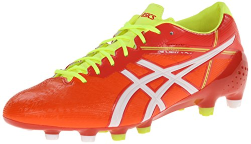ASICS Men's Ds Light X-Fly 2 MS Soccer Shoe,Orange Red/White,10.5 M US