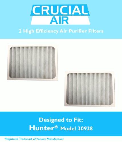 2 Hunter 30928 Air Purifier Filters, Fits Hunter Models 3005