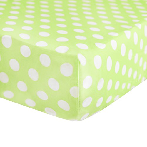 Tadpoles Crib Fitted Sheet, Polka Dot/Green ()