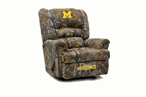 Imperial Officially Licensed NCAA Furniture: Big Daddy Microfiber Rocker Recliner, Michigan Wolverines