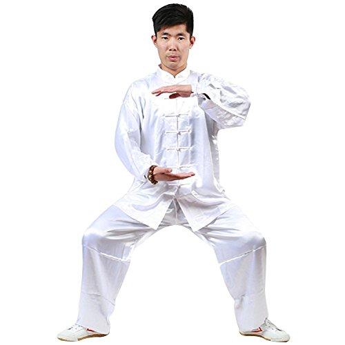 Kongfu Taichi Shaolin Kung fu Uniform (White, Height:71-73in)