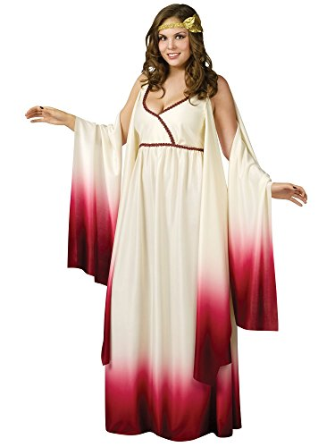 Fun World Venus Goddess of Love Costume, Tan, Plus -