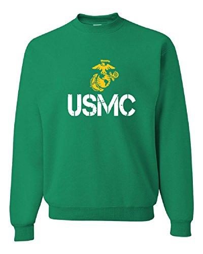 USMC Logo Crew Neck Sweatshirt United States Marine Corps...