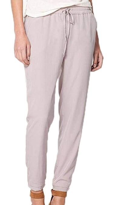 85fef437d37b7 YiyiLai Pantalon Mousseline de Soie Femme Legging Fluide Automne Hiver  Soirée Casual Elégant: Amazon.fr: Vêtements et accessoires