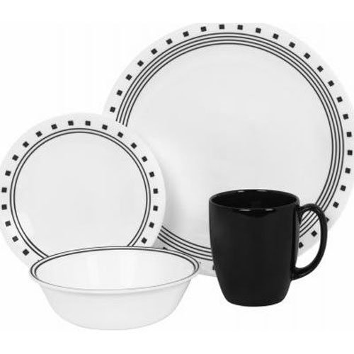 World Kitchen Corelle 16 Piece Livingware City Block Set, (Livingware City Block)