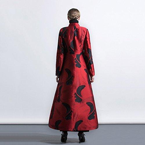 Mujeres firm Brilliant Chaqueta Cazadora Las el Cintura Levanta se XXXL de Americana y Sección La de Europea Larga Size de Collar Jacquard Moda FrYOnwYqSd