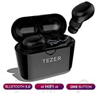 Wireless Earbuds TEZER X20 Bluetooth 5.0 True Wireless Headphones IPX5 Automatic Connection 15H Playtime Hi-Fi Stereo with Built-in Mic and Charging Case for Travelling and Exercise