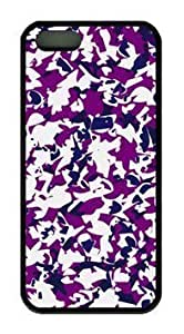 Abstract Pattern Purple Design DIY Rubber Black iphone 6 plus Case