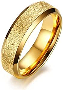 Unisex Gold and shiny ring and size 6