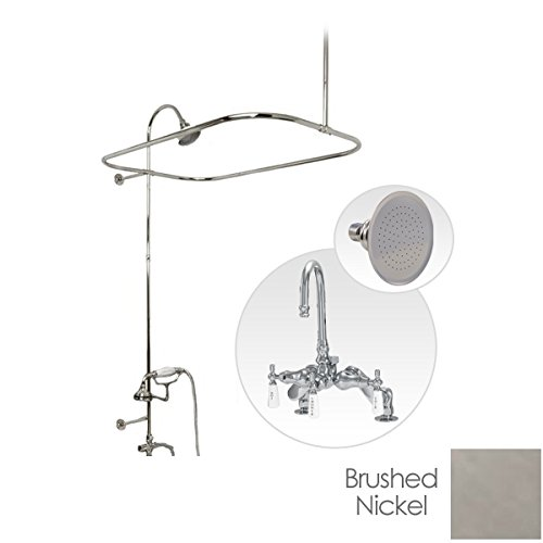 Randolph Morris Rim Mount Clawfoot Tub Shower Enclosure with Gooseneck (Clawfoot Tub Rim)