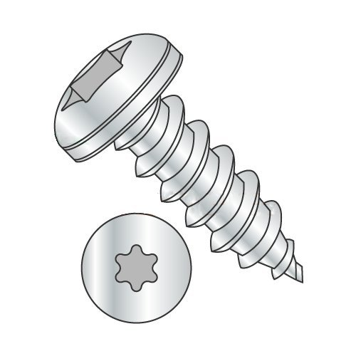 "#14 x 1 1/2"" Type AB Self-Tapping Screws/Six-Lobe (Torx)/Pan Head/Steel/Zinc (Carton: 1,250 pcs) 41F4yK0rotL"