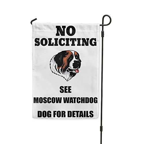 No Soliciting See MOSCOW WATCHDOG DOG For Details Yard Patio
