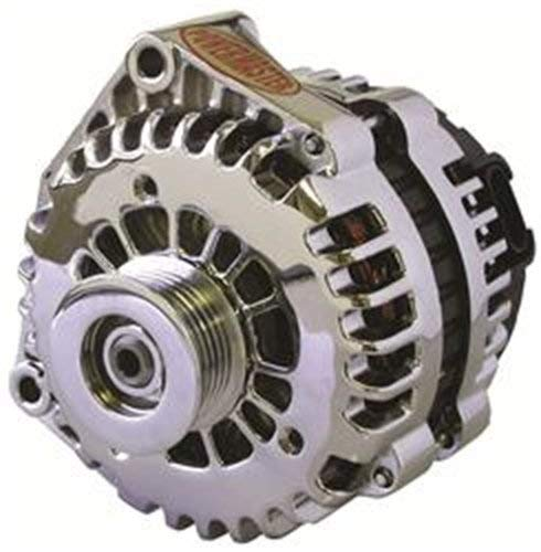 Powermaster Performance 18302 Chrome Alternator (AD244 165A 6 Groove Pulley with 2 pin OE Hookup FR-L Regular)
