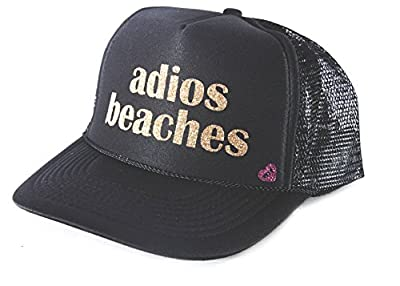 Mother Trucker & co. Adios Beaches Trucker Hat In Black