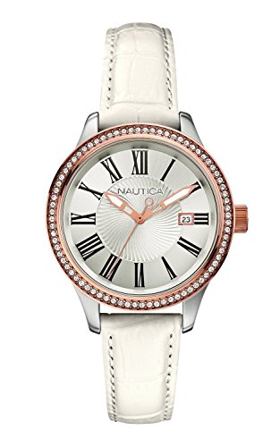 Nautica - Wristwatch, Analog Quartz, Leather, Women