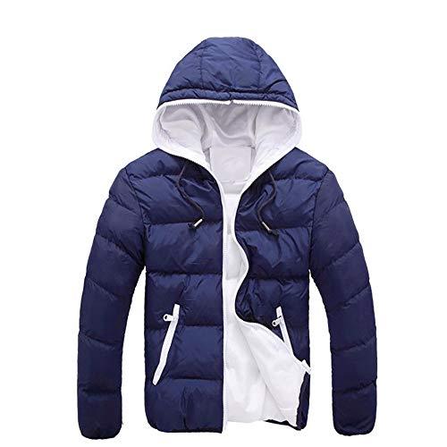 Price comparison product image Men's Raincoats Winter Coat 4T,Men Casual Warm Jacket Hooded Winter Thick Coat Parka Overcoat Hoodie NY/XXL