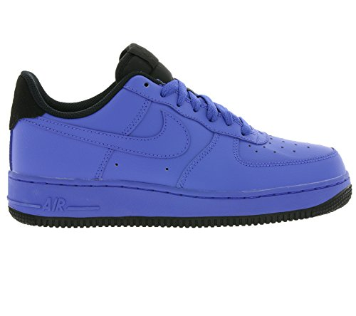 Nike, Uomo, Air Force 1 07 Comet Blue Black, Pelle, Sneakers, Blu