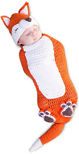 [Princess Paradise Baby's Kit The Fox Deluxe Costume Swaddle, As Shown, 0/3M] (Fox Hat Costume)
