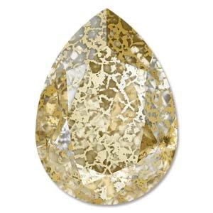 スワロフスキー(Swarovski)4320 18X13MM CRYSTAL GOLD PATINAFOILED 1個の商品画像