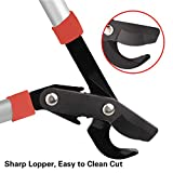 EONLION Lopper Shears, Professional Compound Action Bypass Lopper, Tree Trimmers Secateurs, 27-Inch Length with 20-Inch Handle Shock Absorbing Effort-Saving Garden Lopper, Pruning Tool