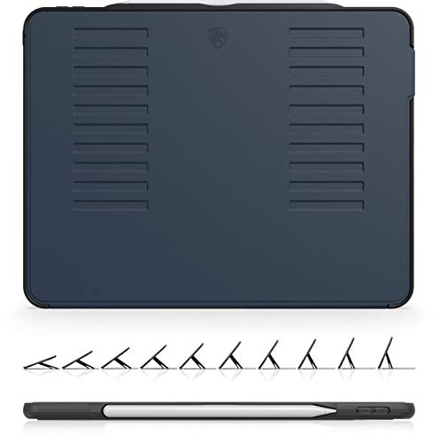 The Muse Case - 2018 iPad Pro 12.9 inch - Very Protective But Thin + Convenient Magnetic Stand + Sleep/Wake Cover by ZUGU CASE (Navy Blue 2018 12.9 Gen 3) (Best Ipad Case Manufacturers)