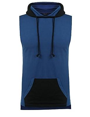 COOFANDY Men's Workout Hoodie Vests Gym Bodybuilding Sleeveless Pullover Sweatshirt