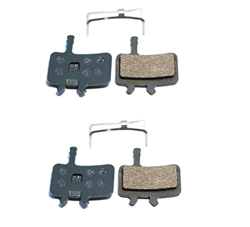 Resin Organic Semi-metal Brake Pads for AVID BB7 Juicy 3 5 7, Smooth Braking,Low Noise, Long Life, Kevlar, Copper, 2 Pairs Avid Juicy Disc Brakes