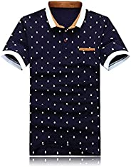Men's Short Sleeve Polo Shirt,Golf Tennis T-Shirt Lightweight and Breathable, Casual Classic Comfortable P