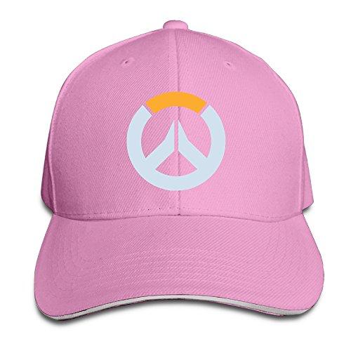 Overwatch Logo Unisex Outdoor Golf Cotton Caps Hats Adjustable Pink