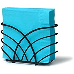 Spectrum Flower Napkin Holder - Color: Black