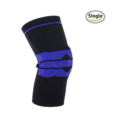 Knee Brace Support & Compression Sleeves, Elastic & Adjustable Kneepad Silicon Padded Bracket/Patella Stabilizer/Warm Protector for Meniscus Tear Arthritis Pain Relief (Black XL)